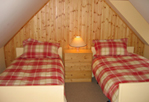 bedroom interior, self catering Scotland